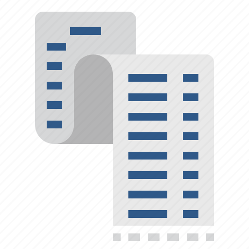 document, expense, file, list, page, paper, payment icon