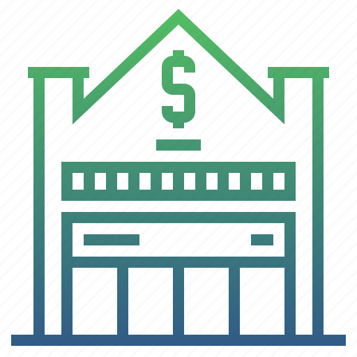 bank, banking, branch, business, cash, finance, money icon