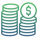 banking, cash, coins, currency, finance, money, payment icon
