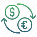 banking, cash, currency, exchange, finance, money, payment icon