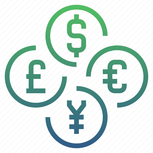banking, cash, currency, exchange, finance, foreign, money icon