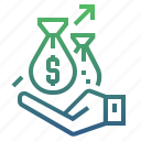 banking, finance, fund, funds, growth, investment, money icon