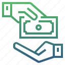 banking, cash, donate, finance, money, pay, payment icon