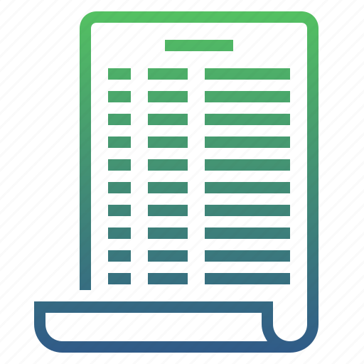 bill, document, format, invoice, page, paper, statement icon