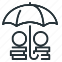 defense, funds, insurance, protection, umbrella icon