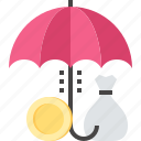 finance, insurance, protection, safety, savings, security, umbrella