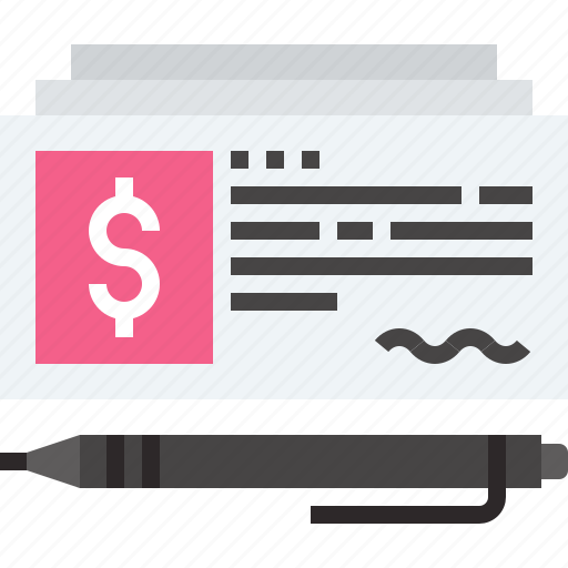bank, cash, cheque, currency, investment, money, payment icon