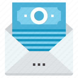 banking, email, message, money, payment, sms, transaction icon