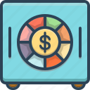 cash, currency, deposit, finance, investment, money, safe