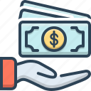 cash, currency, finance, money, payment, salary icon