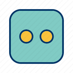 casino, dice, two icon