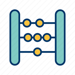 abacus, calculator, counting icon