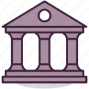 bank, banking, building, business, finance, money, office icon