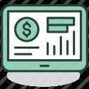 control, distance, finance, management, mobile, money, tablet icon