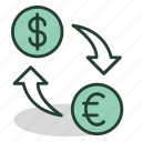 banking, business, currency, dollar, exchange, finance, money icon