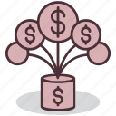 business, currency, finance, income, investment, money, profit icon
