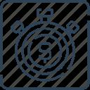deadline, deposit, dollar, finance, money, stopwatch, timer icon