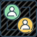 employee, exchange, finance, sharing, users icon