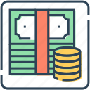 banknote, coins, currency, dollar, finance, money, payment