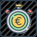 deadline, deposit, euro, finance, money, stopwatch, timer