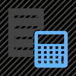 account, calculate, calculation, document, file, finance, report icon