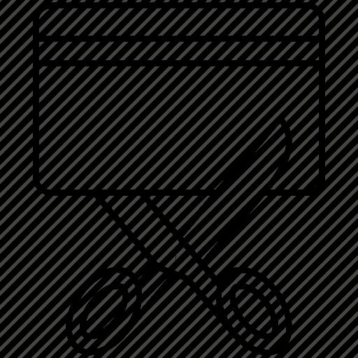 cut, pay, scissor, tax icon