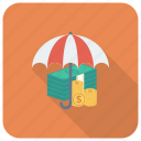 cash, currency, dollar, finance, moneysafe, protection, savemoney icon