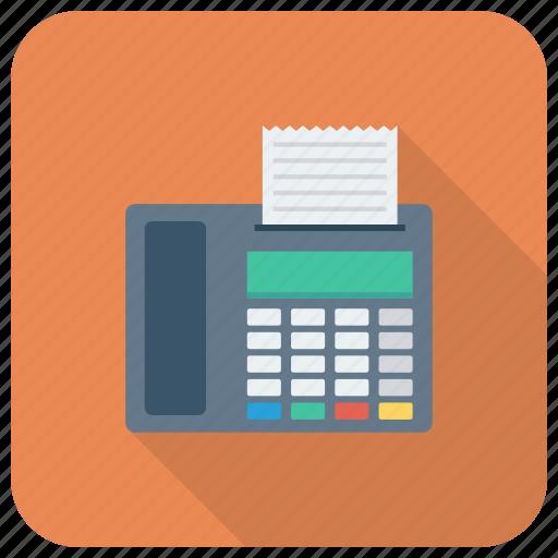 fax, faxmachine, machine, printer, printing, telephone icon