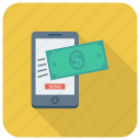 smartphone, finance, mobile, money, phone, transfer, payment icon