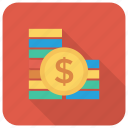 cash, coin, currency, finance, goldcoins, money, stackofcoins icon
