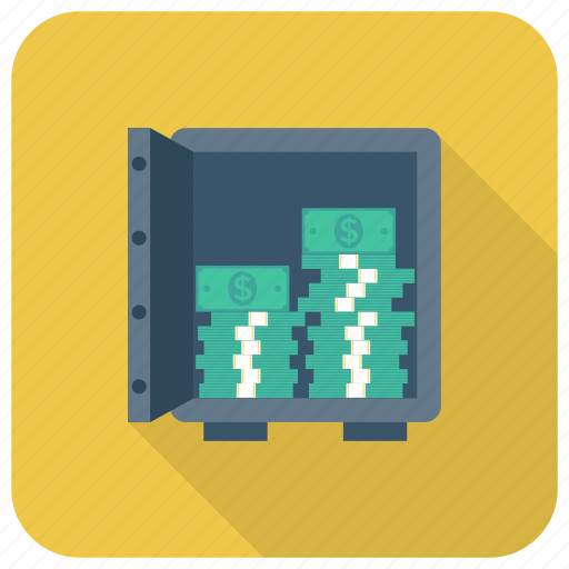 Bank, currency, dollar, finance, money, safe icon - Download on Iconfinder