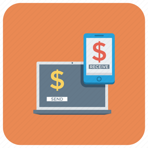 bank, commerce, internetbanking, laptop, loan, mobilebanking, money icon