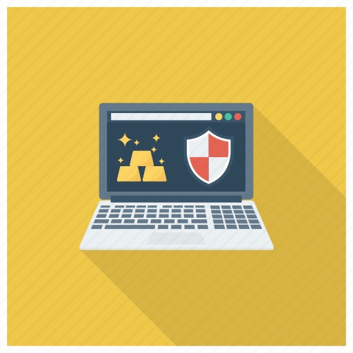 gold, lock, protection, secure, security, shopping, web icon