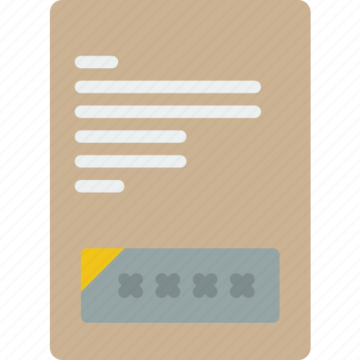 Banking, document, finance, money, number, pin icon - Download on Iconfinder