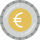 banking, coin, euro, finance, money icon