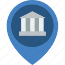 bank, banking, finance, location, money icon