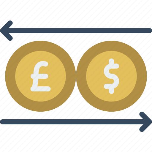 banking, currency, exchange, finance, money icon