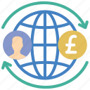 banking, finance, global, money, transfer icon