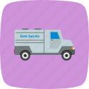 bank, security, van icon