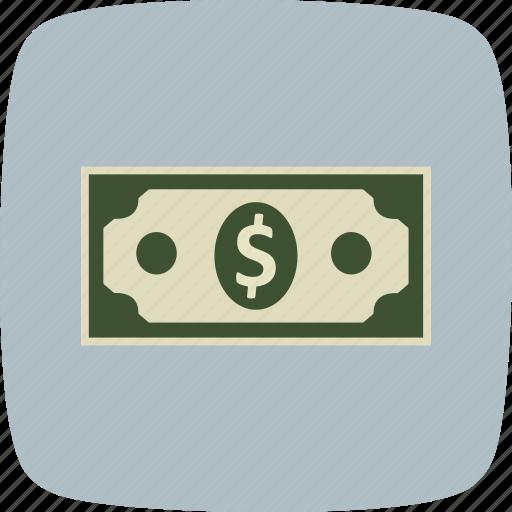 bank note, cash, money icon