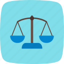 balance, banking, justice, law, scales icon