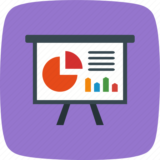 banking, chart, graph, office, presentation icon