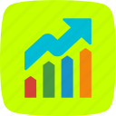 analysis, graph, growth, profit icon