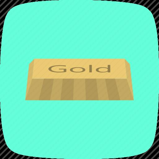 banking, brick, finance, gold, ingot icon