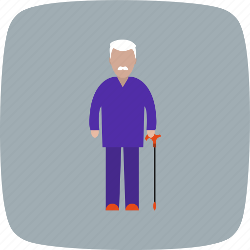 old man, pension, retirement icon