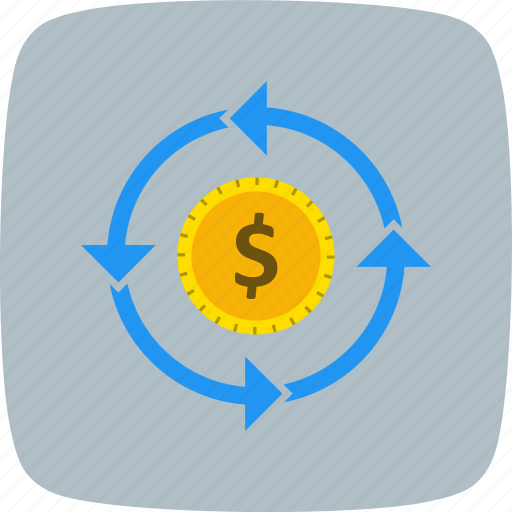 currency, finance, flow, transfer icon