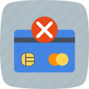 failure, payment, sending failure icon