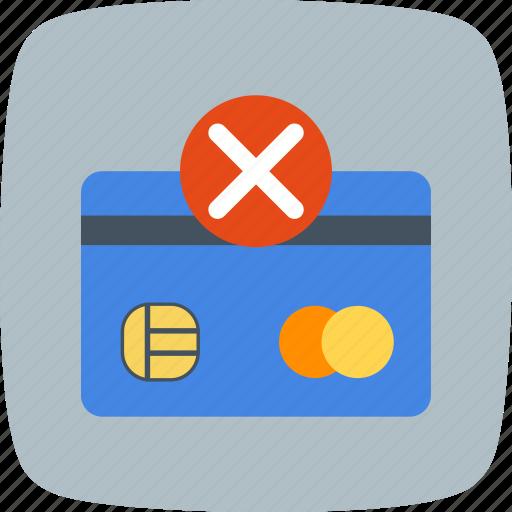 failure, payment, sending failure icon