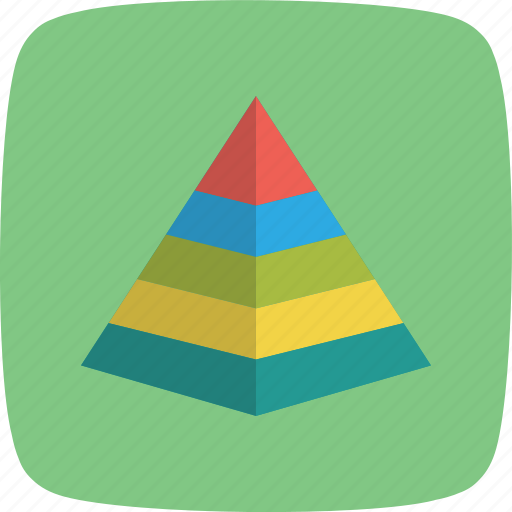 banking, hierarchy, levels, management, pyramid icon