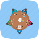 business, conversation, metting, network icon